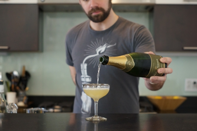 Step 6 of 6: Top with about 2 oz of champagne Enjoy!  How di