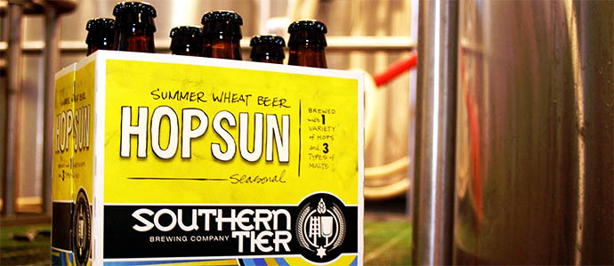 Southern Tier Hop Sun   Lakewood, NY Unlike many wheat beers