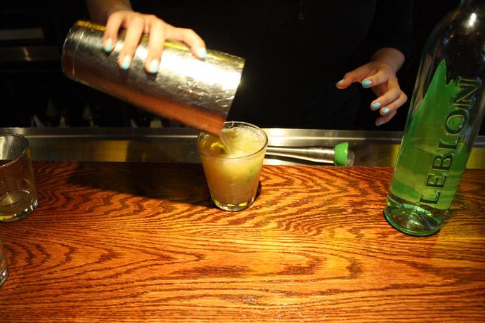 Step Six: Pour into a rocks glass