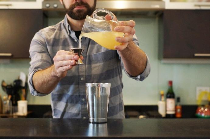 Step 2 of 6: Add 1 oz fresh grapefruit juice