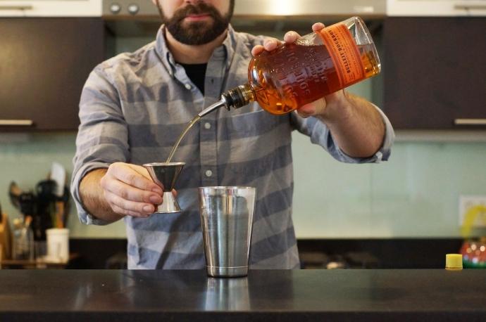 Step 3 of 5: 2 oz bourbon