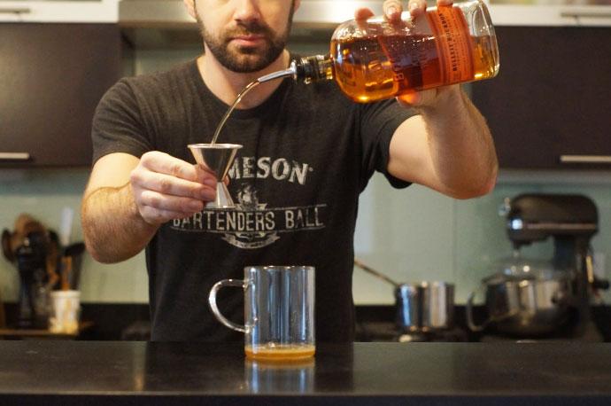 Step 3 of 5: Add 1 1/2 oz bourbon
