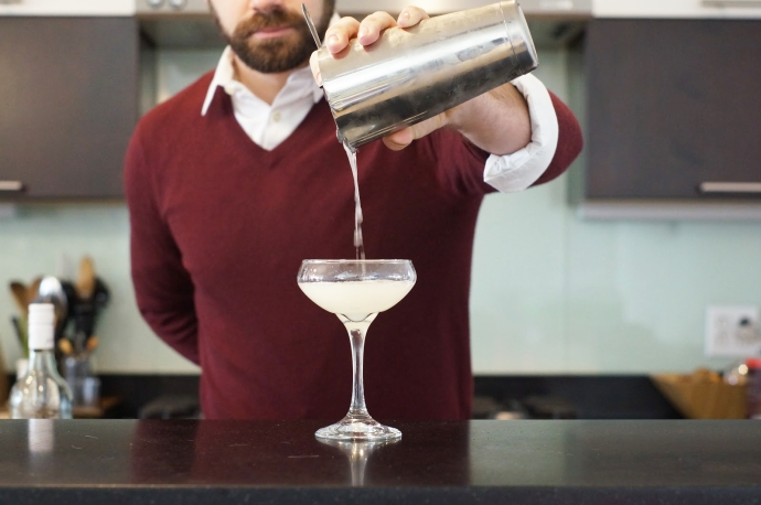 Step 5 of 6: Strain into a coupe glass