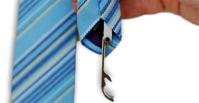 "7) Necktie Bottle Opener  ""A  tie again?"" Surpri"