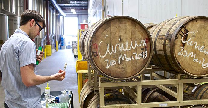 4) A Killer Bourbon Barrel Aged Beer  Craft  brews aged in b