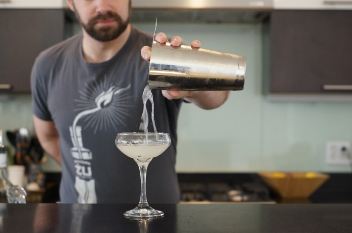 Step 6 of 6: Strain into coupe glass. Enjoy!  How did yours
