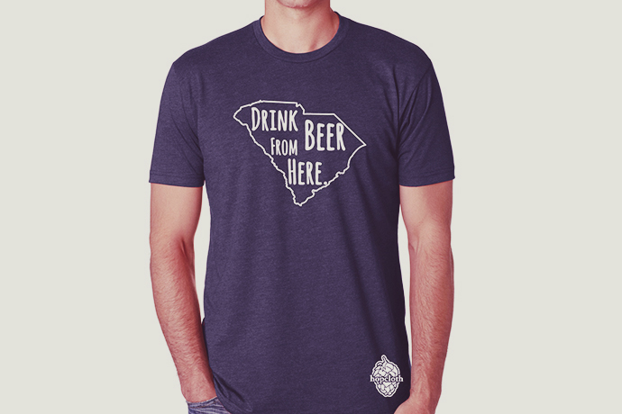 """8.HopCloth """"Drink Beer From Here"""" T-Shirts"""