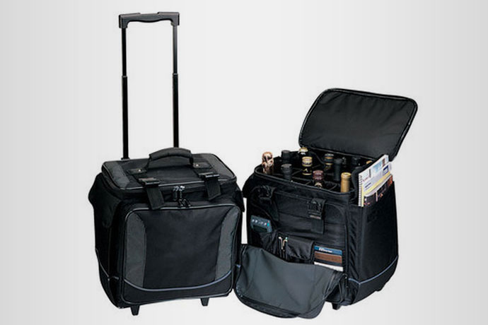 7.Wine Bottle Limo, $99.95 A rolling case of wine that