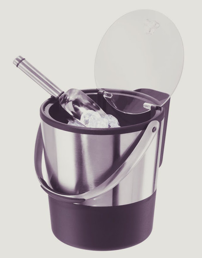 21.Oggi Stainless Steel Ice Bucket This 3.8L double-wa
