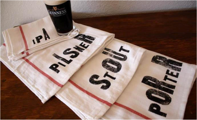 14.NestaHome Beer Towel Set These handsome towels are