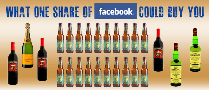 How Much Booze Is One Share of Facebook Worth?