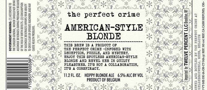 The Perfect Crime - American-Style Blonde
