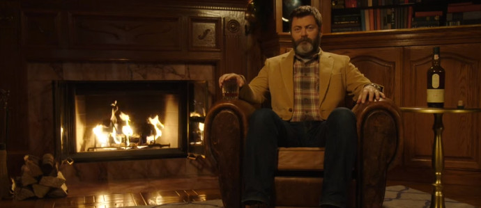 Nick Offerman and Lagavulin Present the Best Virtual Yule Log on YouTube