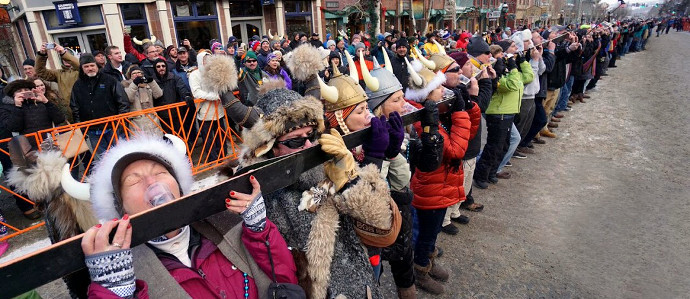 Breckenridge Breaks World Record for Longest Shot Ski During Ullr Fest