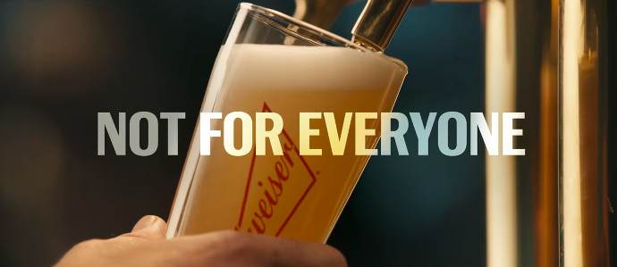 Budweiser Tries to Act Tough and Throws Shade at Craft Beer in #NotBackingDown Super Bowl Ad