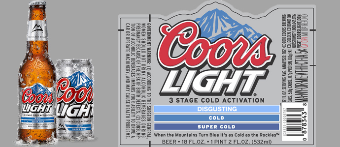Coors Introduces Two Stage Cold Detection