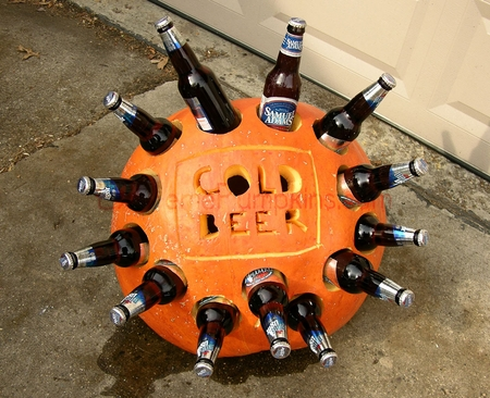 Booze themed pumpkin carvings the drink nation Pumpkin carving beer